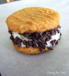 Peanut Butter Cookie Ice Cream Sandwiches (Cooking With Kids) - Crazy for Crust