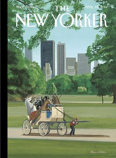 "The New Yorker - Monday, April 28, 2014 - Issue # 4542 - Vol. 90 - N° 10 - Cover ""The Cart Before The Horses"" by Bruce McCall"