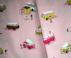 Heather Ross - Happy Camper Pink