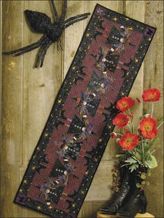 Topsy Turvy Witch Table runner Pattern