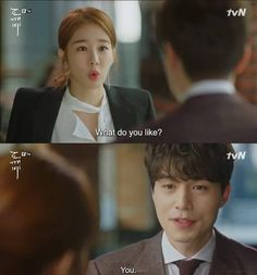 This was the cutest part of the drama. I honestly melted when he answered that.Goblin K. Korean Drama Funny, Korean Drama Quotes, K Drama, Drama Fever, Lee Dong Wook, Gong Yoo, Live Action, Goblin The Lonely And Great God, Goblin Korean Drama