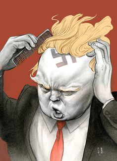 Lürzer's Archive - Trump demands it: Anne Telford on US illustrator/caricaturist Steve Brodner