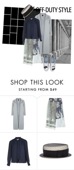 """Set 326"" by shiningglassofwater ❤ liked on Polyvore featuring New Look, Michael Van Der Ham, Diane Von Furstenberg, Maison Michel, Chiara Ferragni, Fall, city, grey and abstract"