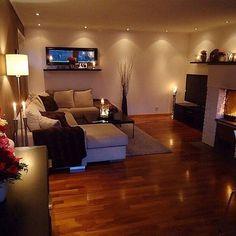 36 Cozy Living Room Design Ideas For Apartment - Home Bestiest Cozy Living Rooms, Home Living Room, Apartment Living, Living Room Designs, Living Room Decor, Cozy Apartment, Apartment Ideas, Basement Apartment, Dream Apartment