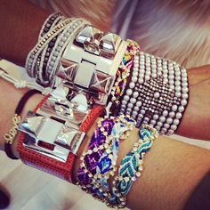 i love the friendship bracelets with the rhinestones they are so cute! would be easy to make!