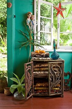 Bohemian Homes: Turquoise walls