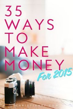 These are 35 ways you can make money from home that actually work in 2015! I have actually tried and done most of these myself and can attest that they are legitimate money-making ideas - so check them out!