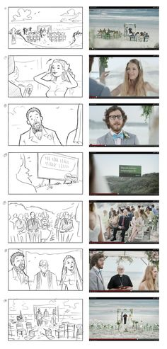 Storyboard vs. actual film. Specsavers commercial. Director: Mats Stenberg. Client: Moland Film. Storyboard: Comoll