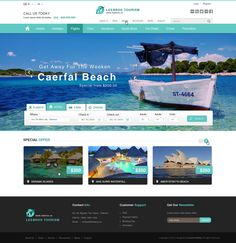 Web design inspiration: search area above photo/banner region | Leebros tourism - WebDesign #2 by Soosha-Studio on deviantART