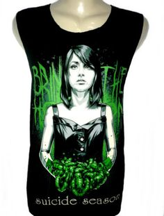 BRING-ME-THE-HORIZON-Suicide-Season-Rock-Tank-Top-Vest-T-Shirt-Size-M-Black-New