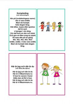 Mariaslekrum - Illustrerade sånger. Learn Swedish, Swedish Language, Daycare Crafts, Music For Kids, Music Classroom, Working With Children, Pre School, School Supplies, Kids Playing