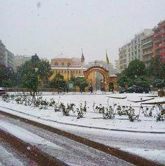 Thessaloniki The Turk, Thessaloniki, Macedonia, Taj Mahal, Landscapes, Scenery, Places To Visit, Snow, City