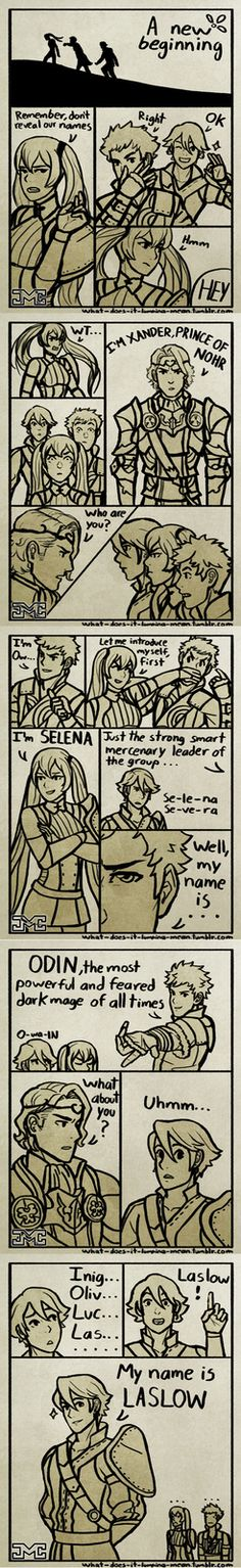 """How the Awakening kids got their names. Can someone please explain where he got """"las"""" from?"""
