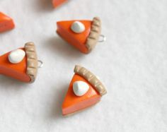 6 Colorful Polymer Clay Ice Cream Cone Charms by Emariecreations