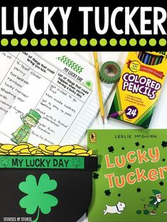 Lucky Tucker is a great mentor text for narrative writing! After writing stories about a lucky day, students can use this pot of gold craft booklet to put their writing on display.