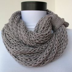 Etsy Scarf / Loosely knitted scarf. Wish I knew what stitch this used!