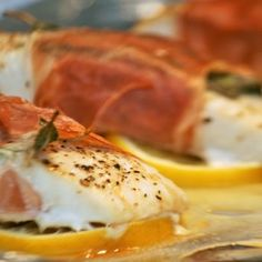 Paleo Dinner - Prosciutto Wrapped Halibut