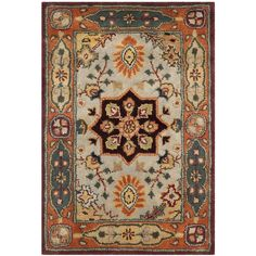 Safavieh Handmade Persian Legend Red/ Rust Wool Rug (2' x 3') (PL812A-2), Blue, Size 2' x 3' (Cotton, Oriental)