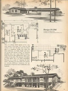 These are beautiful vintage house plans that are efficient, spacious and full of memories! The house plans are from Home Planners 180 Multi-Level Designs 1977 You might also want to see these Vintage House Plans posts: Contemporary House Plans, Modern House Plans, House Floor Plans, Modern Contemporary, Vintage House Plans, Vintage Homes, Mcm House, Architectural House Plans, Home Planner