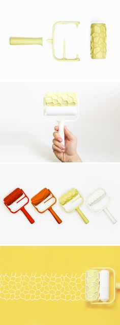 Patterned Paint Rollers  ⊚ pinned by www.megwise.it #megwise #viral