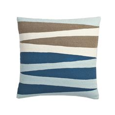 This pillow cover has a crisp geo motif that is embroidered all over with hand-guided crewel stitching for distinctive pattern, color and texture. The Company Store Comforter Sale, Linen Bedding, Bedding Shop, Bed Linen, The Company Store, Blankets For Sale, Flannel Blanket, Bedding Sets Online, Perfect Pillow