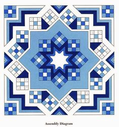 Learn how to make this Beautiful Geometric Rug step by step in Yarn Pattern Free - Crochet Patterns Crochet Afghans, Crochet Bedspread, Crochet Quilt, Afghan Crochet Patterns, Crochet Squares, Crochet Home, Crochet Motif, Crochet Designs, Crochet Yarn