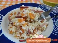 Risotto speck e papaya , facile e gustoso !