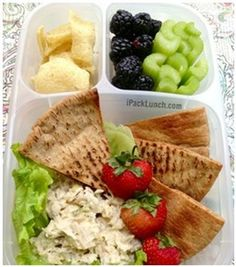 healthy and easy to pack lunch ideas. great for packing and taking to work!