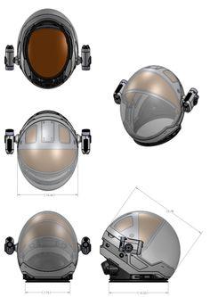 The Martian: helmet template.
