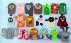 felt animal puppets. Look easy enough for little kids to make themselves! :)