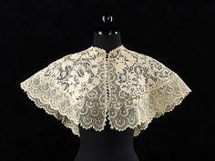 Irish Crochet Lace Collar    1890