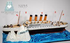 N1135 - 3D titanic ship cake toronto