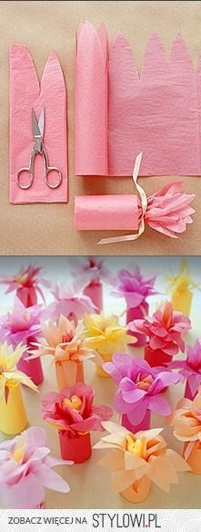 DIY favor boxes/diy tissue flower wrap