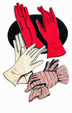 If you're a fan of the coordinated hats, gloves, shoes, and handbags of bygone eras, you'll love this vintage pattern for sewing mid-century day gloves!