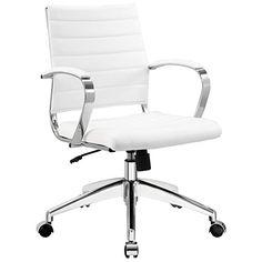 LexMod Jive Ribbed Mid Back Executive Office Chair, White Vinyl LexMod http://www.amazon.com/dp/B00GNW1PBC/ref=cm_sw_r_pi_dp_KobUub0CY38Q3