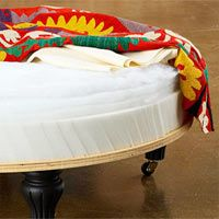 How to make a padded ottoman