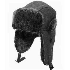 45d3299e59a Russian Cossack Trapper Bomber Style Winter Faux Fur Hat Mens 58  59cms Grey