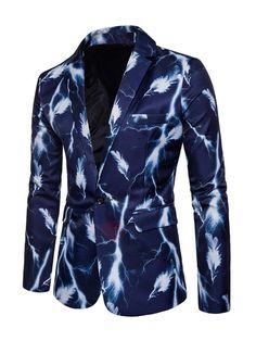 2018 Men/'s Imprimé Floral Revers Blazer Outwear Casual Business Slim Manteau Veste