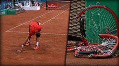 3 Tennis-Schläger in wenigen Minuten zertrümmern? Dimitrov kann's!  (via BILD Video)