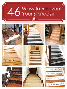 Hometalk Clipboard Stairways from On Sutton Place. I like the bottom right one :)