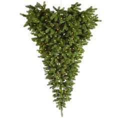 "Vickerman 22032 - 6' x 61"" American Upside Down Hanging Tree Half 315 Warm White LED Lights Christmas Tree (A117426LED) Vickerman http://www.amazon.com/dp/B005D8KOO6/ref=cm_sw_r_pi_dp_8AHqwb1XXA9KH"