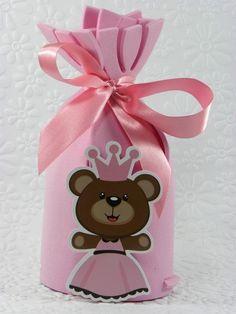 Trouxinha cordão Ursinha Princesa-Cortes para montar www.petilola.com.br