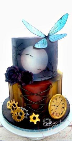 Steampunk and Gothic Birthday Cake