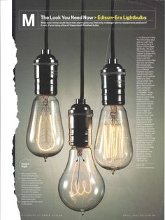 FerroWatt Edison light bulbs semi obsessed with this look especially now living in a home built in 1926.