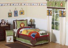 Jungle Time Children & Kids Bedding 4 pc Twin Set by Sweet Jojo Designs by JoJo Designs, http://www.amazon.com/dp/B004GYBO06/ref=cm_sw_r_pi_dp_7FBerb0HVB1R2