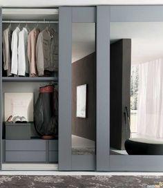 Шкафы купе : Шкаф–купе в спальню (39 фото)