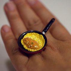 Kawaii Japanese Miniature Food Ring  Making by fingerfooddelight, $12.00