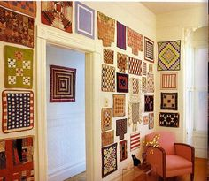 Great idea for wall decor in a craft room, great reason to make tons of minis!