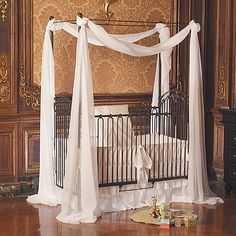 Venetian Iron Crib, will someone please do this so I can enjoy it minus he baby?
