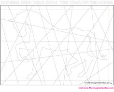 'Year of the Horse' modern art / abstract / hidden colouring activity, free to download
